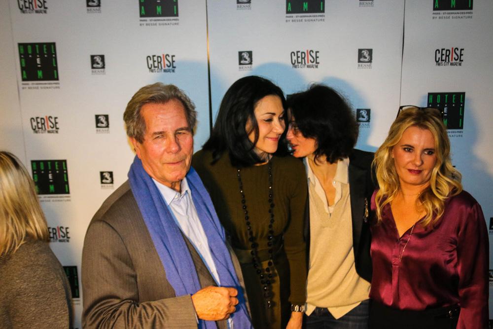 Jean-Louis Debré, Laurence Guinebretière (directrice de l'hôtel Bel Ami), Valérie Bochenek et Carole Fernandez (rédactrice en chef de Cerise)