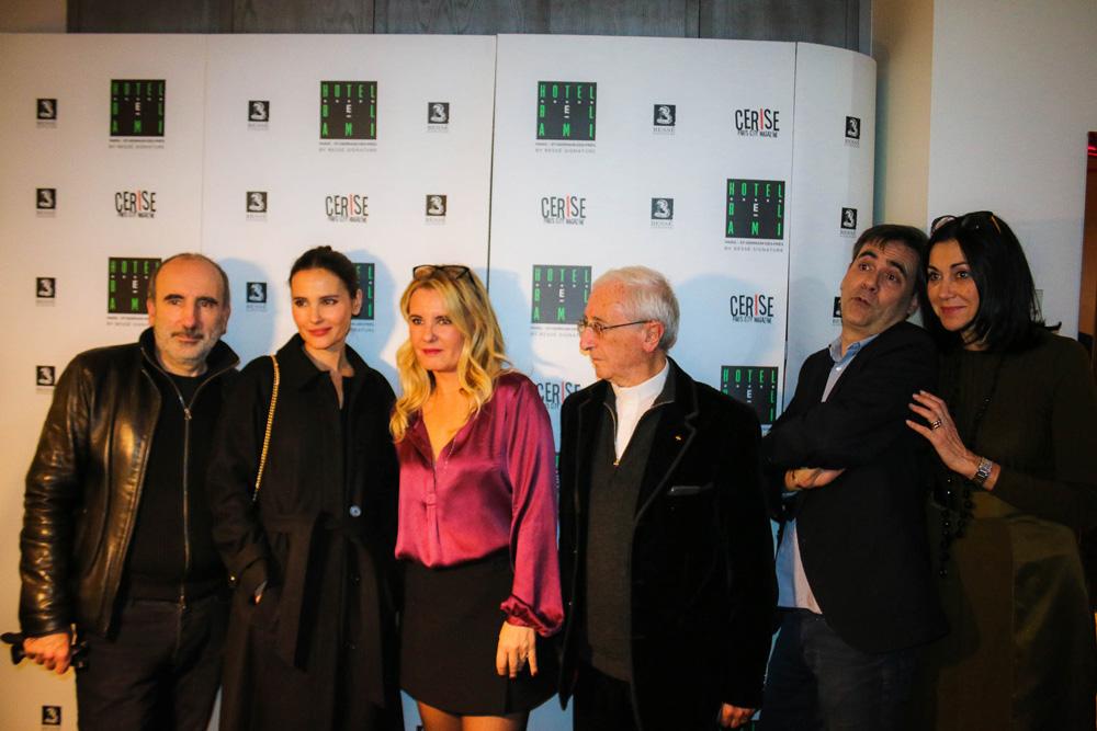 Philippe Harel, Virginie Ledoyen et Carole Fernandez, l'Abbé de la Morandais, Jacques Ravenne (écrivain) et Laurence Guinebretière