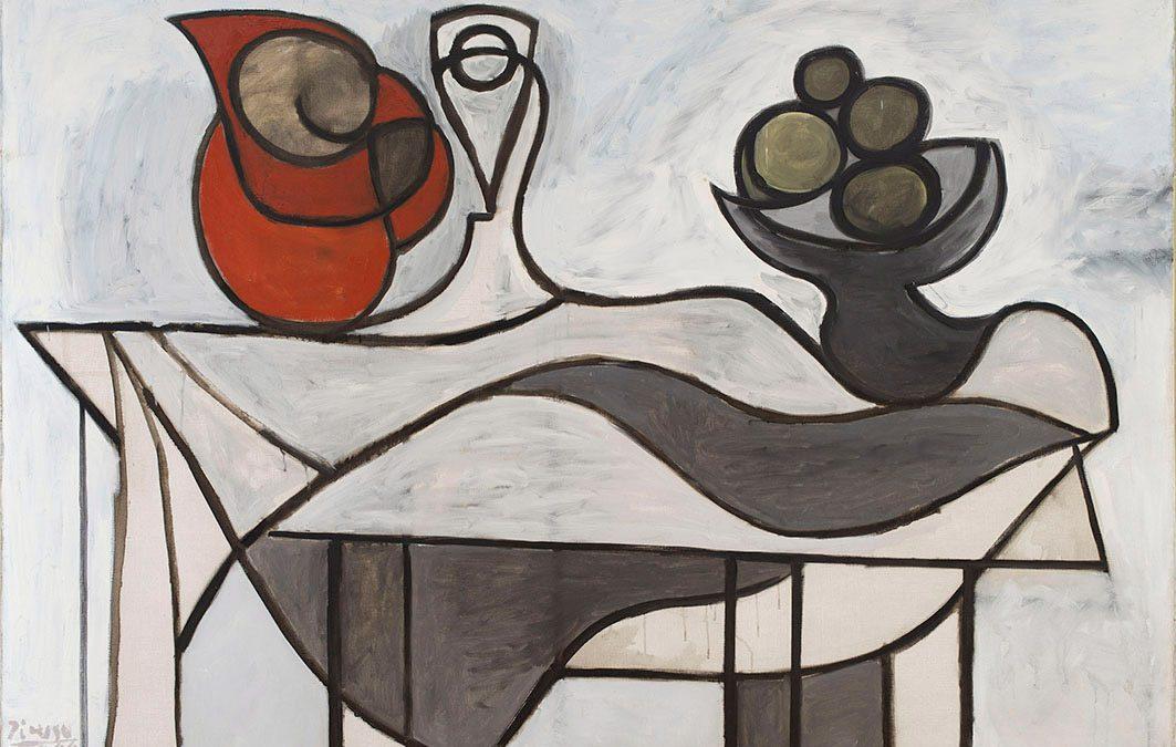 Pablo Picasso, Pichet et coupe de fruits,