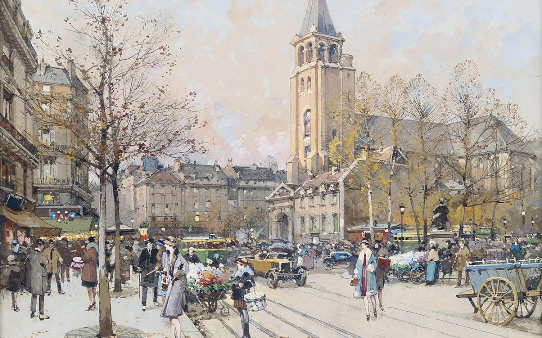Eugene Galien-Laloue Paris Eglise de St-Germain-des-Prés