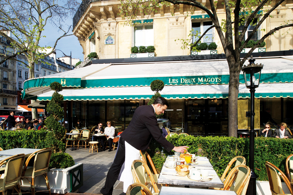 Les Deux Magots, from surrealists to existentialists