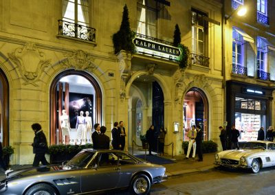Rétromobile: cocktail à la boutique Ralph Lauren