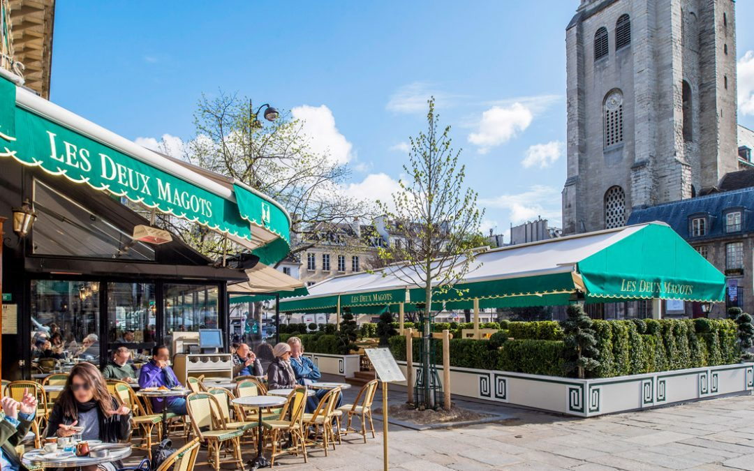 Terrace with a view at Les Deux Magots